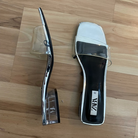 zara clear sandals 39